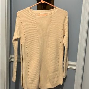 Caslon Sweater size XS beige with side zippers